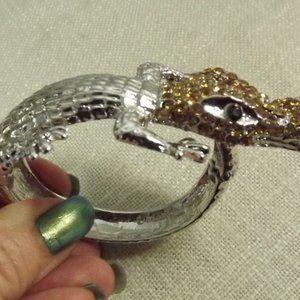 Swarovski Crystal Alligator Bracelet